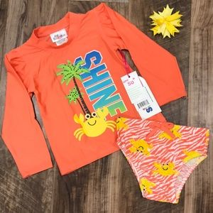 Sweet & Soft Coral colored long sleeved Tankini